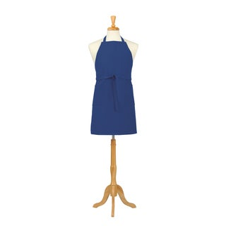 Solid Blue Canvas Bib Apron