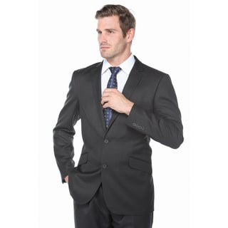 Verno Men's Industrial Black Slim-fit Suit