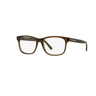 Burberry BE2196 3010 Olive Green Plastic Rectangle Eyeglasses with 53mm Lens
