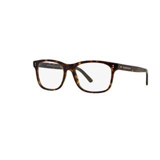 Burberry BE2196F 3002 Dark Havana Plastic Rectangle Eyeglasses with 55mm Lens
