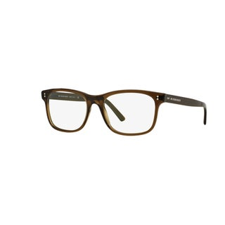 Burberry BE2196F 3010 Olive Green Plastic Rectangle Eyeglasses with 55mm Lens
