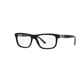 Burberry BE2197 3001 Black Plastic Rectangle Eyeglasses with 53mm Lens