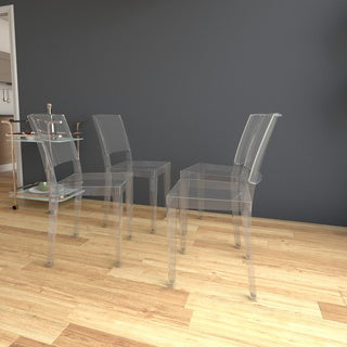 Phantom Series Transparent Stacking Dining Chair