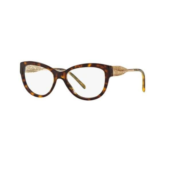 632ba4497ede Burberry BE2210 3002 Dark Havana Plastic Cat Eye Eyeglasses with 53mm Lens  - Dark Havana ...