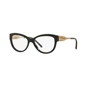 Burberry BE2210 3001 Black Plastic Cat Eye Eyeglasses with 53mm Lens