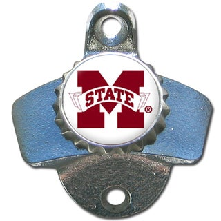 Mississippi St. Bulldogs Grey Wall-mounted Bottle Opener
