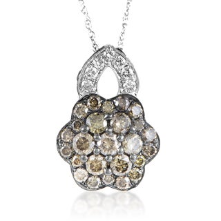 LeVian Women's 14K White Gold Multi-Diamond Flower Pendant Necklace