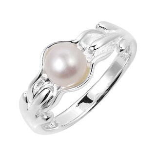 Handmade Ocean's Treasure White Pearl Sterling Silver Ring (Thailand)