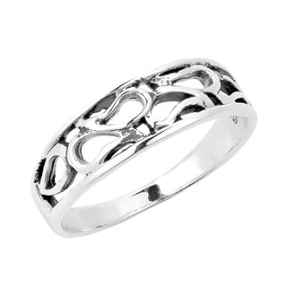 Open Water Droplets Cluster .925 Sterling Silver Ring (Thailand)