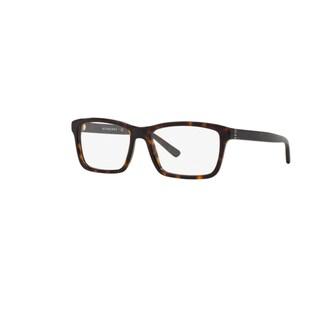Burberry BE2188 3002 Dark Havana Plastic Square Eyeglasses with 55mm Lens