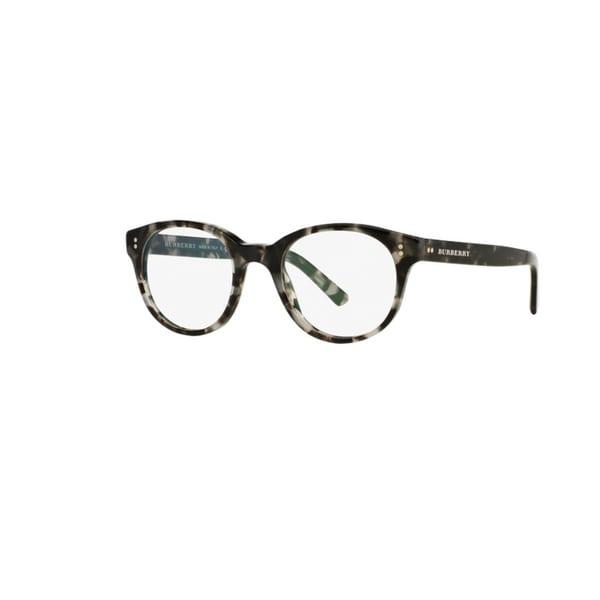 904ea6a8f964a Burberry BE2194 3533 Grey Havana Plastic Phantos Eyeglasses with 50mm Lens
