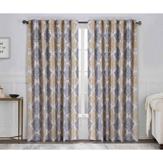 VCNY Legend Damask Medallion Curtain Panel