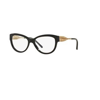Burberry BE2210 3001 Black Plastic Cat Eye Eyeglasses with 51mm Lens