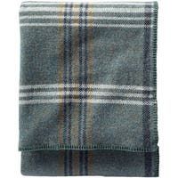 Pendleton Eco-wise Shale Blue Plaid Wool Blanket