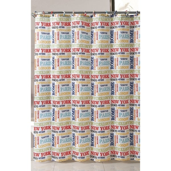 VCNY World Traveler Shower Curtain