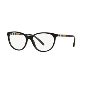 Burberry BE2205 3001 Black Plastic Round Eyeglasses with 52mm Lens