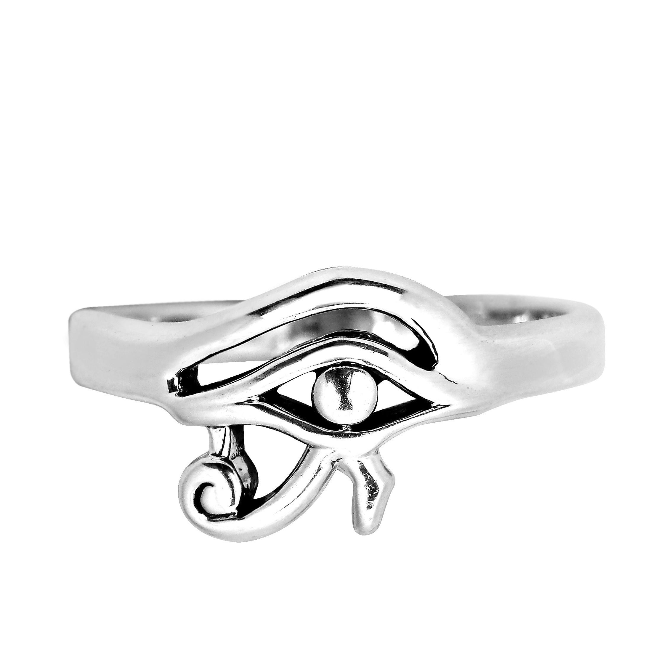 925 Sterling Silver Eye of Horus Ring