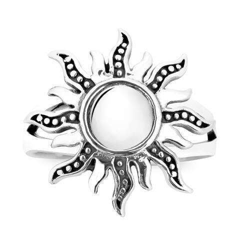 Handmade Dancing Mystical Sunshine Sterling Silver Ring (Thailand)