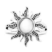 Handmade Dancing Mystical Sunshine .925 Sterling Silver Ring (Thailand)