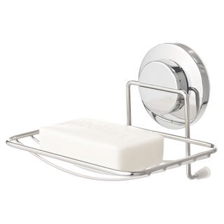 Everloc Push N' Loc Stainless Steel Suction Cup Soap Holder