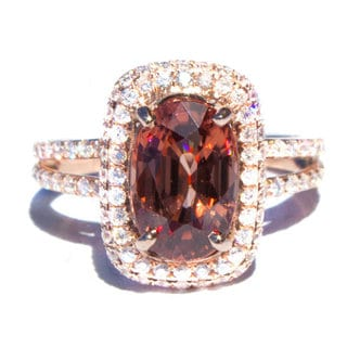 California Girl Jewlery 14k Rose Gold Diamond Accent Ring