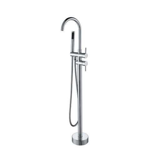 Vanity Art Freestanding Bathtub Faucet - Chrome