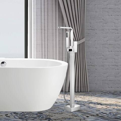 Vanity Art Chrome Freestanding Bathtub Faucet