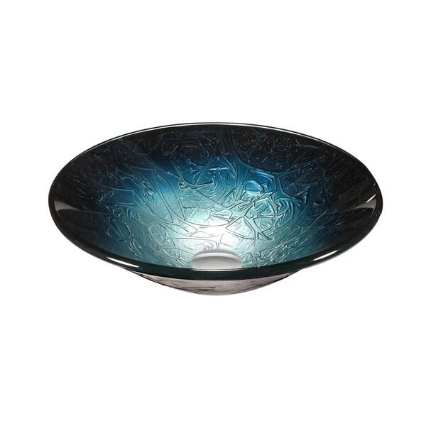 Legion Furniture Metallic Multi Blue Silver Gl Vessel Sink Bowl Free Shipping Today 12378304
