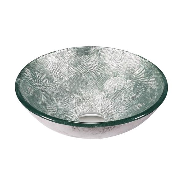 Legion Furniture Silver Glass Vessel Bowl Sink