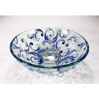 Legion Furniture Blue Glass Transluscent Vessel Bowl