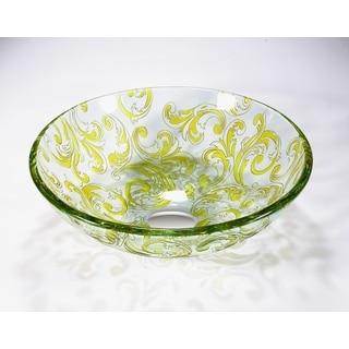 Legion Furniture Transluscent Yellow Green Vessel Bowl
