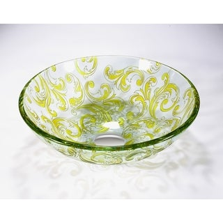 Legion Furniture Transluscent Yellow Green Vessel Bowl