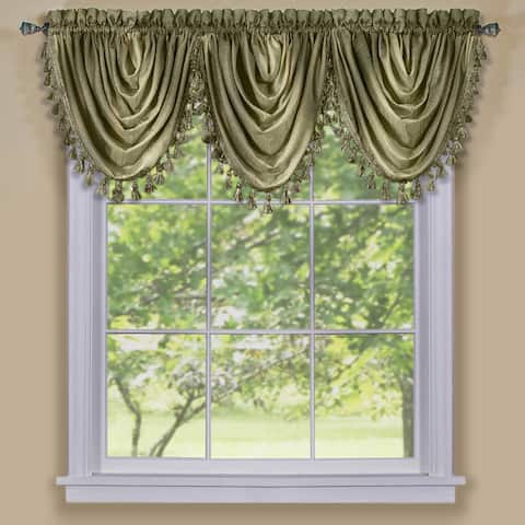 Achim Ombre Window Curtain Waterfall Valance