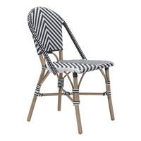 Paris Black and White Dining Chair (Set of 2)