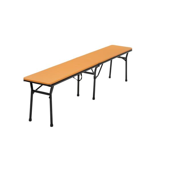 COSCO 6-foot Indoor/ Outdoor Center Fold Orange Tailgate Bench with Carrying Handle