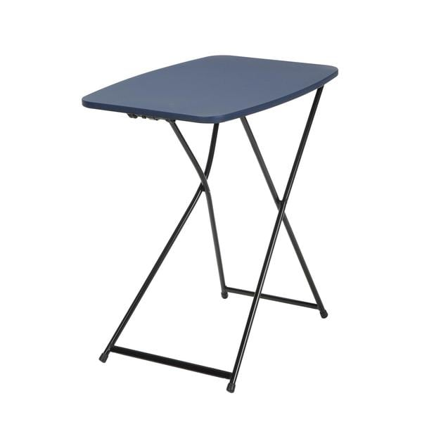 COSCO 18 x 26 Indoor/ Outdoor Adjustable Height Personal Folding Dark Blue Tailgate Table