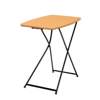 COSCO 18-inch x 26-inch Indoor/ Outdoor Adjustable Height Personal Folding Orange Tailgate Table