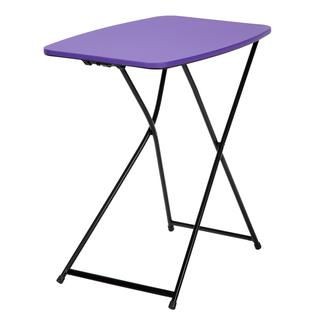 COSCO 18-inch x 26-inch Indoor/ Outdoor Adjustable Height Personal Folding Purple Tailgate Table