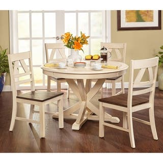 White Kitchen Table Chairs White kitchen dining room sets for less overstock simple living vintner country style dining set 2 options available workwithnaturefo
