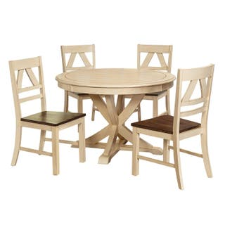 Off white kitchen dining room sets for less overstock simple living vintner country style dining set option 5pc vintner dining set antique workwithnaturefo