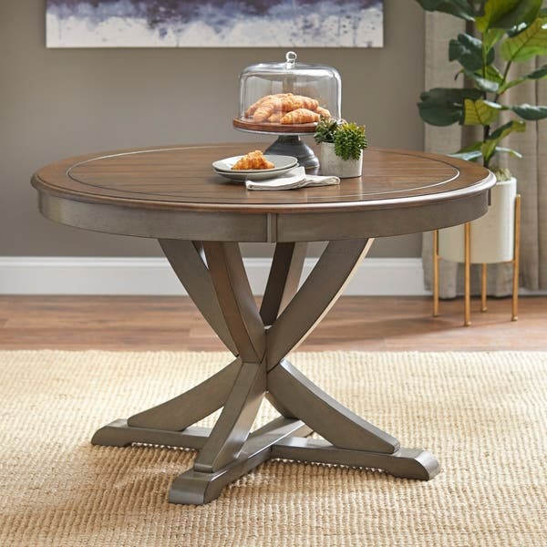 Shop Simple Living Vintner Country Style Round Dining Table ...