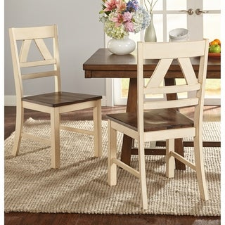 Simple Living Vintner Distressed Dining Chairs (Set of 2)