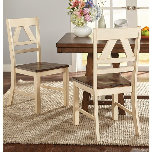 Country Style Dining Room Furniture: Simple Living Vintner Country Style Dining Chairs (Set Of