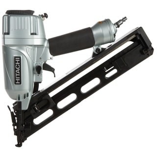 "Hitachi NT65MA4 2-1/2"" 15 Gauge Angled Finish Nailer With Air Duster"