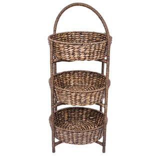 Birrock Home 3-tier Woven Espresso Rattan Shelf
