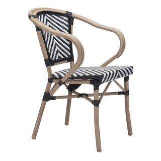 Paris Black and White Dining Arm Chair (Set of 2)