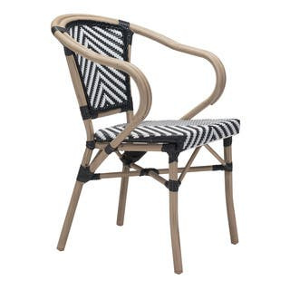 Paris Black and White Dining Arm Chair (Set of 2)|https://ak1.ostkcdn.com/images/products/12378411/P19201970.jpg?impolicy=medium