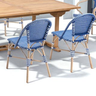 Paris Navy Blue and White Dining Arm Chair (Set of 2)|https://ak1.ostkcdn.com/images/products/12378418/P19201971.jpg?impolicy=medium