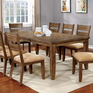 Furniture of America Merina Country Style Expandable 78-inch Dining Table