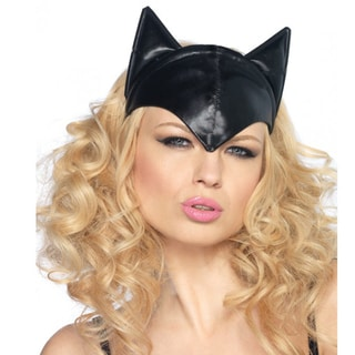 Feline Femme Fatale Polyester and Cotton Halloween Cat Head Band
